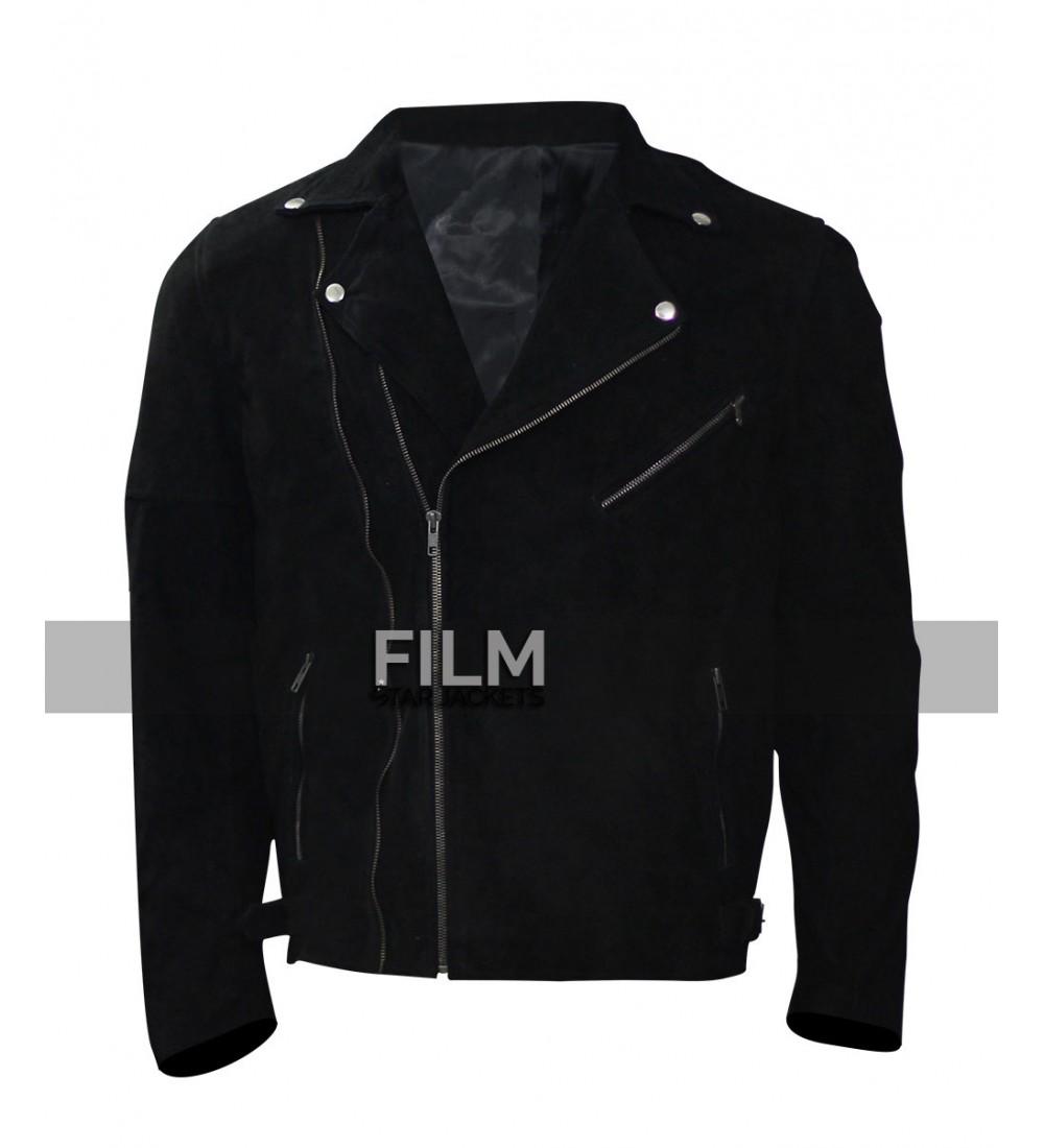 Baby black leather jacket