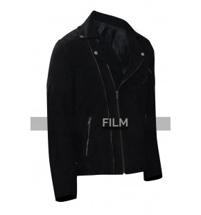 Buddy Baby Driver Jon Hamm Black Leather Jacket