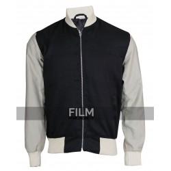 Baby Driver Movie Ansel Elgort Varsity Bomber Jacket