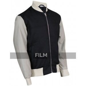 Baby Driver Movie Ansel Elgort Varsity Bomber Jacket