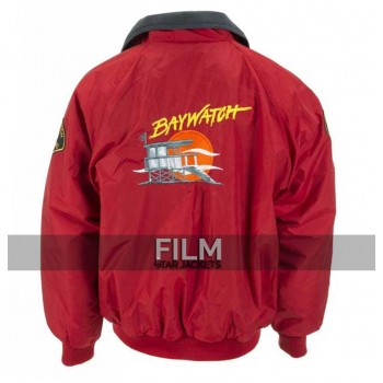 Baywatch Classic TV Series Mitch Buchannon Bomber Jacket