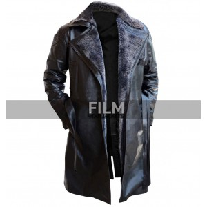 Blade Runner 2049 Movie Ryan Gosling Fur Leather Coat
