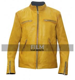 Dirk Gently Holistic Detective Agency Samuel Barnett Yellow Leather Jacket