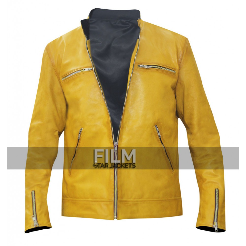 Dirk Gently Holistic Detective Agency Samuel Barnett Yellow Leather Jacket