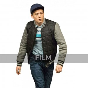 Kingsman The Golden Circle Taron Egerton Eggsy Bomber Jacket