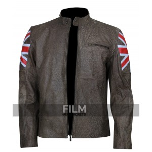 Cafe Racer UK Flag Motorcycle Jacket