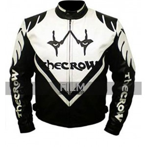 Black & White The Crow Biker Leather Jacket