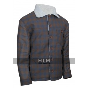 Ryan Gosling Nice Guys Set Los Angeles Shearling Jacket