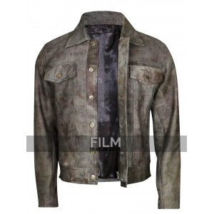 STS Ranchwear Men's Maverick Rustic Black Leather Jacket
