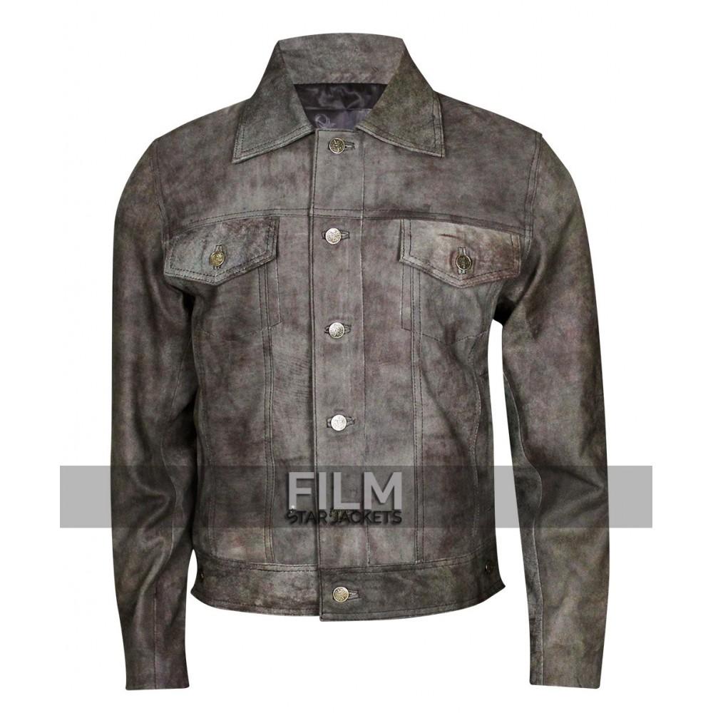 STS Ranchwear Men's Maverick Rustic Black Leather Jacket