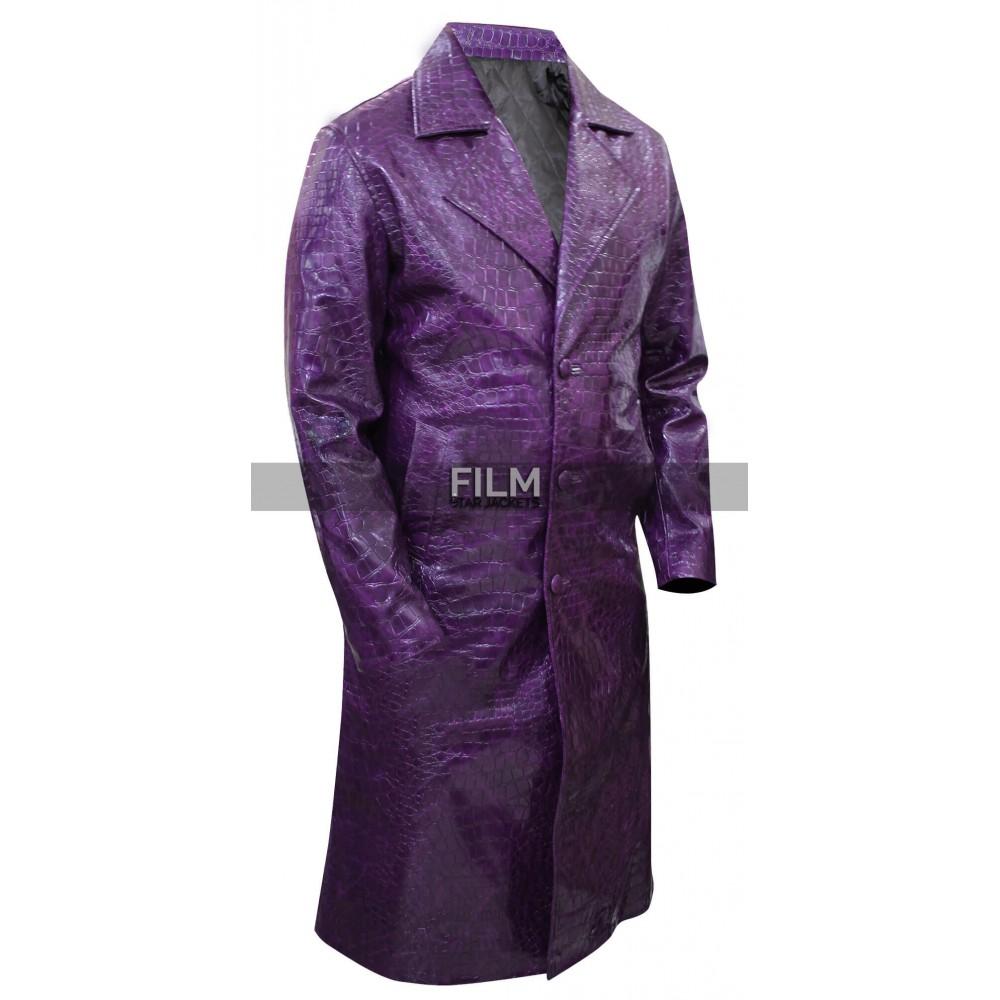 Suicide Squad Joker Purple Trench Costume Coat