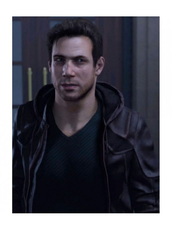 Detroit Become Human Gavin Leather Hooded Jacket