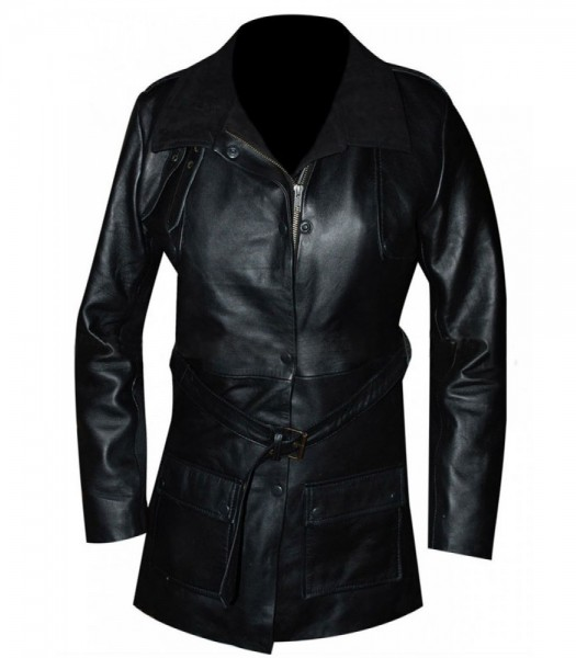 Chicago P.D Erin Lindsay (Sophia Bush) Black Leather Coat