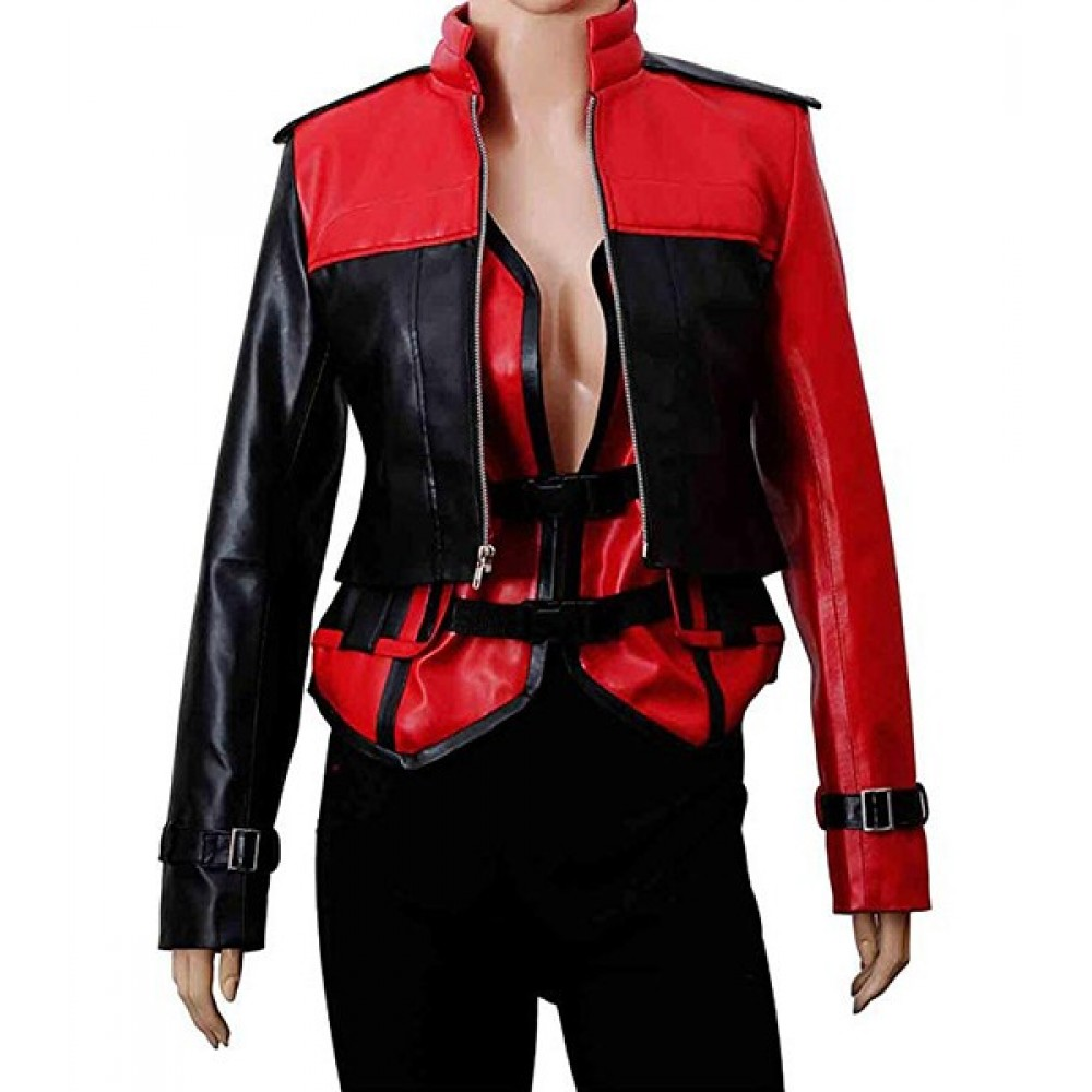 Harley Quinn Injustice 2 Gods Among Us Costume Leather Jacket