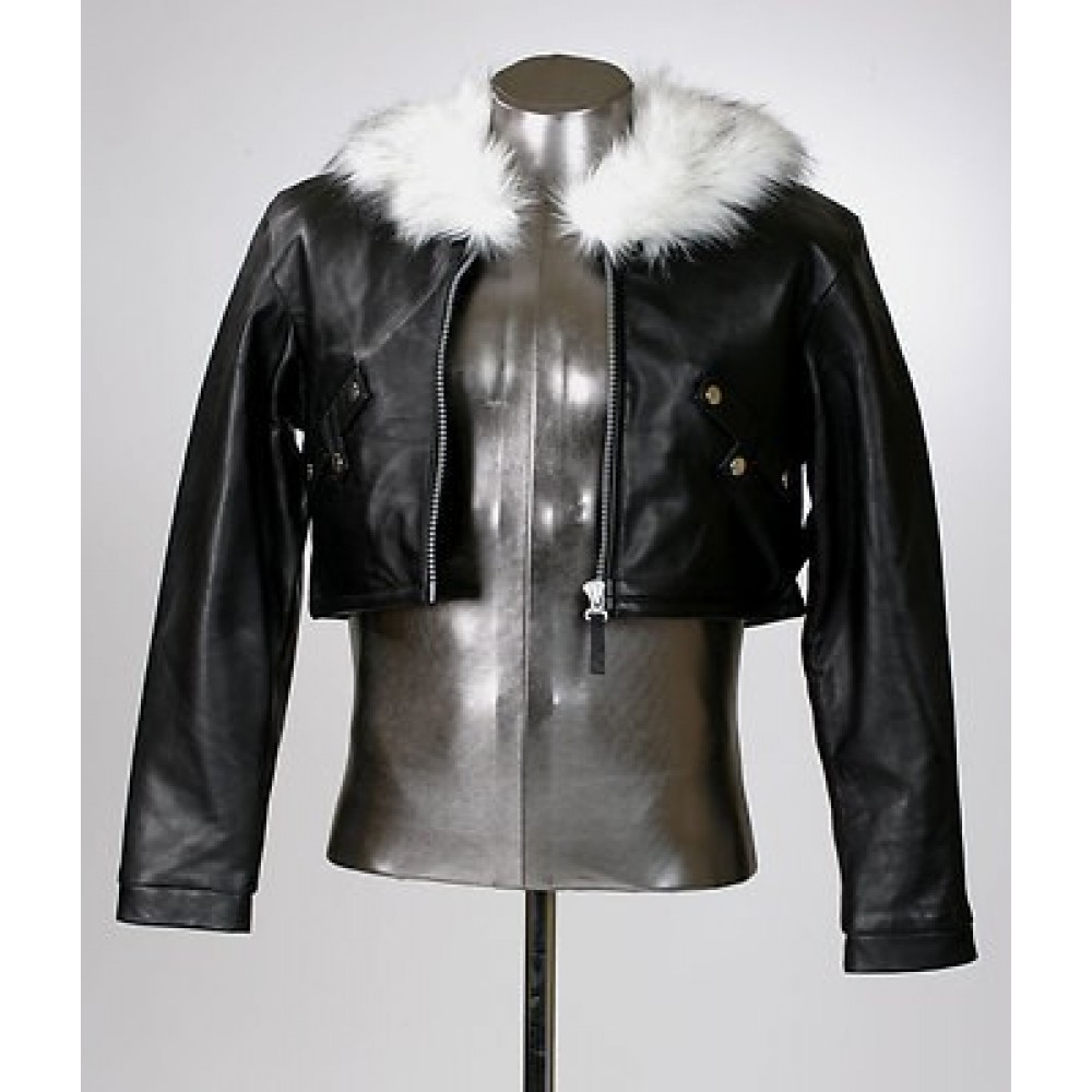 SQUALL LEONHART FINAL FANTASY VIII FUR COLLAR LEATHER JACKET