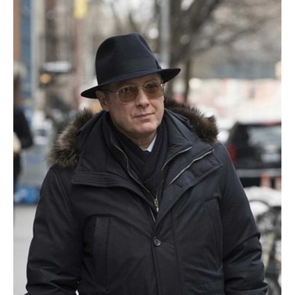 BLACKLIST RAYMOND REDDINGTON BLACK FUR HOODIE JACKET