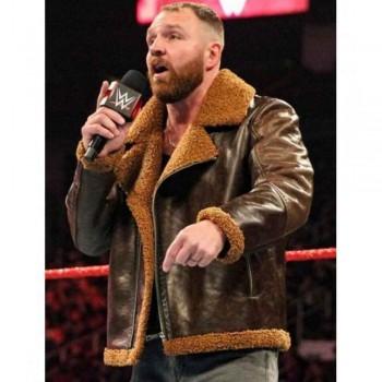 Dean Ambrose Dark Brown Shearling Jacket
