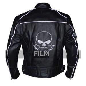Willie G Reflective Skull Motorcycle Black Jacket