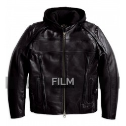 Reflective Road Warrior Black Leather Jacket