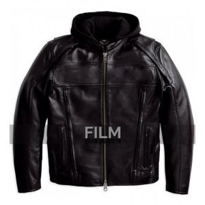 Reflective Road Warrior Black Leather Jacket