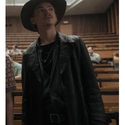 THE QUEEN'S GAMBIT BENNY WATTS BLACK TRENCH COAT