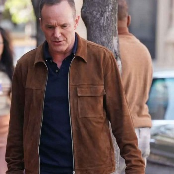 AGENTS OF SHIELD CLARK GREGG (PHIL COULSON) BROWN SUEDE LEATHER JACKET