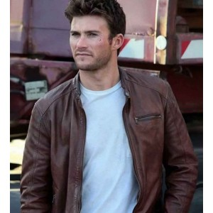 THE FATE OF THE FURIOUS SCOTT EASTWOOD (LITTLE NOBODY) BROWN LEATHER JACKET