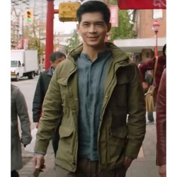 KUNG FU EDDIE LIU (HENRY YAN) GREEN COTTON JACKET