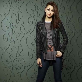 HOW TO GET AWAY WITH MURDER KATIE FINDLAY (REBECCA SUTTER) BLACK LEATHER JACKET