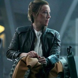 LOST IN SPACE MOLLY PARKER (MAUREEN ROBINSON) BLACK LEATHER JACKET
