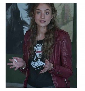 THE REPUBLIC OF SARAH STELLA BAKER (SARAH COOPER) RED LEATHER JACKET