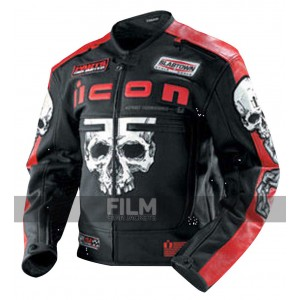 Icon Motorhead Skull Biker Leather Jacket For Men