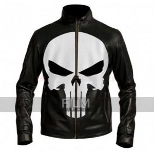 Punisher Skull Black Motorcycle Leather Jacket