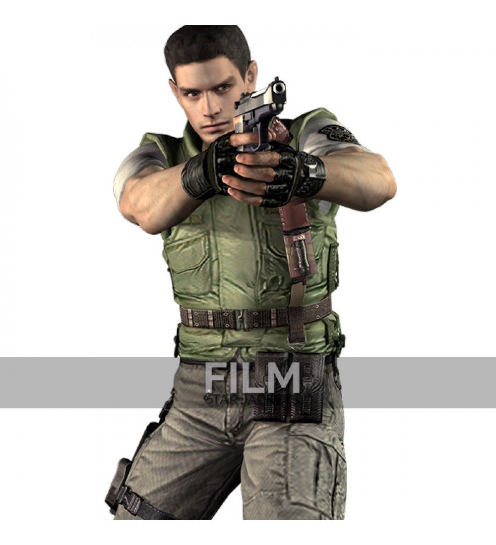 2016 Resident EVIL 6 Leon Kennedy PU Faux Vest Leather Cosplay Costume  (China) 073c1f8b1ccc