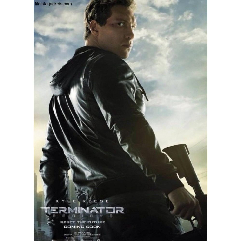 Terminator Genisys Jai Courtney Black Hooded Jacket
