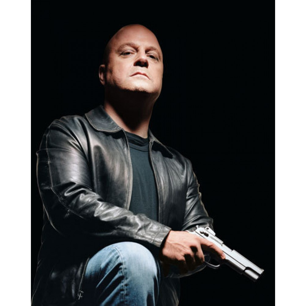 The Shield Vic Mackey (Michael Chiklis) Black Jacket