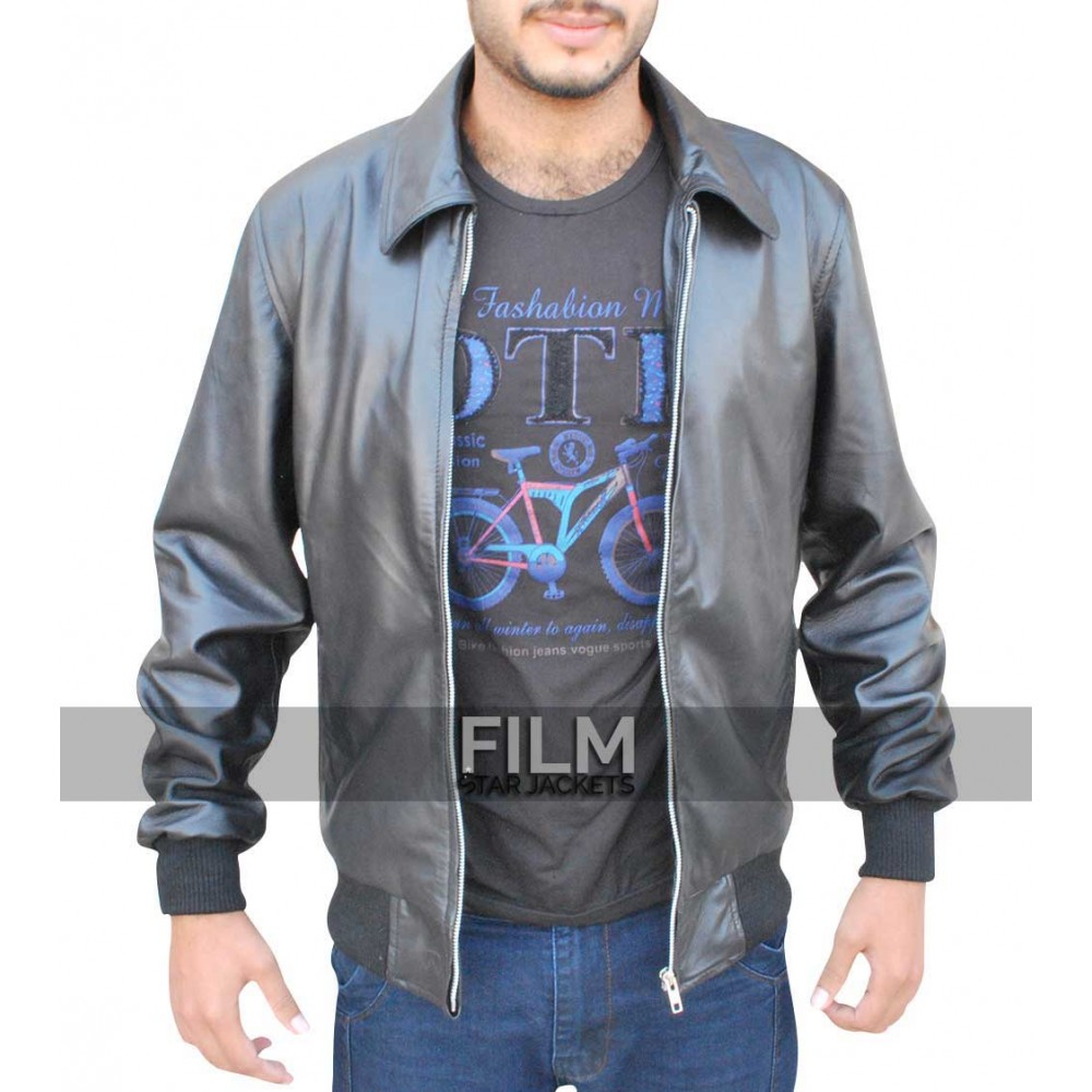 Stephen Amell Arrow S3 Oliver Queen Bomber Leather Jacket