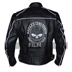 Harley Davidson Willie G Reflective Skull Motorcycle Black Jacket
