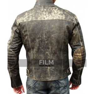 Motorcycle Antique Distressed Retro Black Jacket