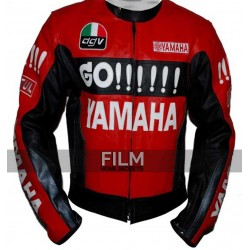 Yamaha Go Red Black Motorcycle Racing Jacket