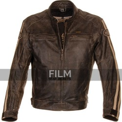 Richa Retro Racing Distressed Motorcycle Leather Jacket