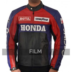 Unseen Red and Black Honda Leather Jacket