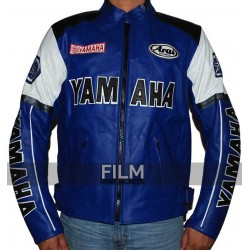 Yamaha Blue Racing Motorcycle Leather Jacket