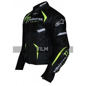 Motorcycle Monster Energy Scream Perforated Jacket