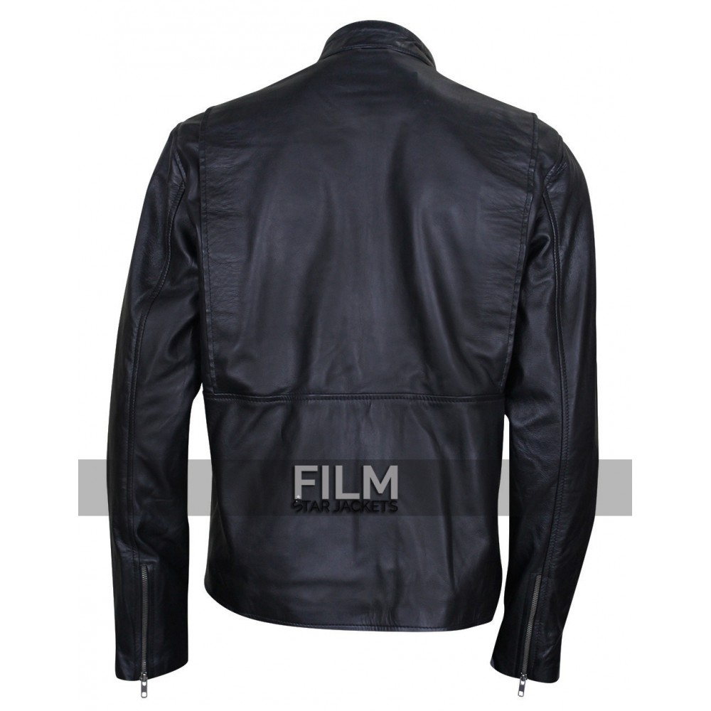 Burnt Bradley Cooper (Adam Jones) Biker Leather Jacket