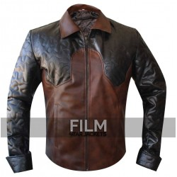 Magician Criss Angel Brown Quilted Biker Jacket