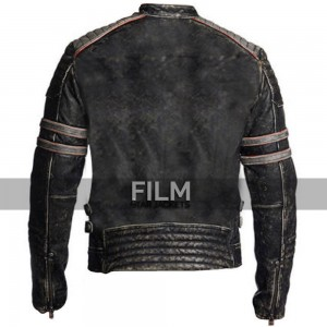 Mens Antique Black Vintage Retro Distressed Jacket