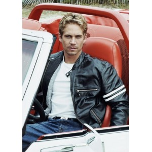 Paul Walker Motorcycle Stripe Jacket