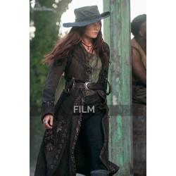 Black Sails S3 Anne Bonny Leather Trench Coat