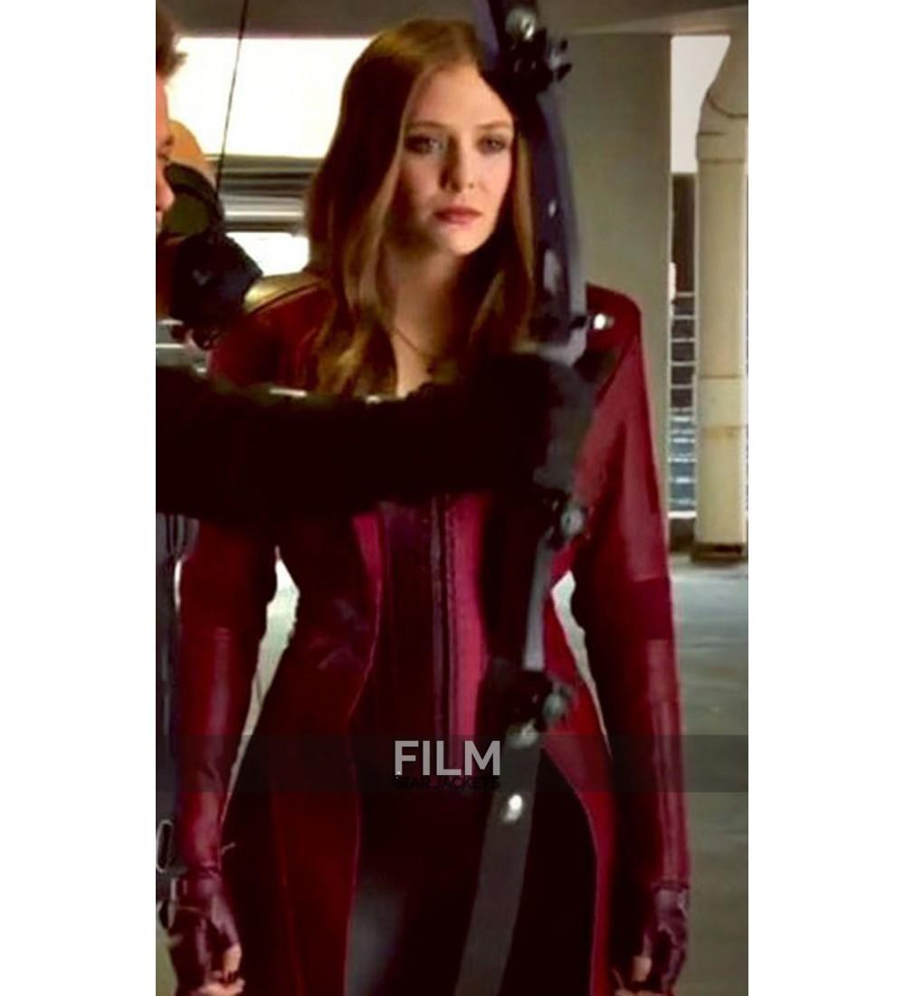 Elizabeth Olsen Captain America Civil War Red Coat